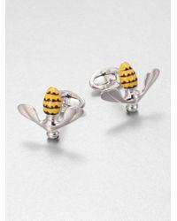 Jan Leslie - Metallic Enameled Bee Cuff Links for Men - Lyst