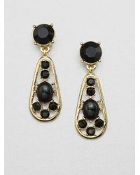 kate spade new york - Black Stone Accented Paisley Drop Earrings - Lyst
