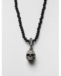 King Baby Studio | Black Hamlet Skull Beaded Necklace for Men | Lyst