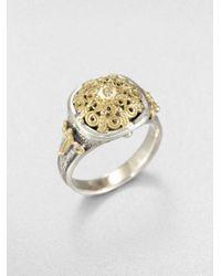 Konstantino | Metallic Diamond Sterling Silver and 18k Yellow Gold Ring | Lyst