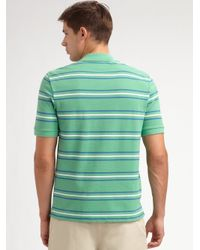 Lacoste - Green Striped Polo for Men - Lyst