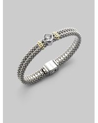 Lagos | Metallic White Topaz Sterling Silver 18k Yellow Gold Bracelet | Lyst