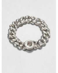 Marc By Marc Jacobs | Metallic Katie Small Turnlock Bracelet/silvertone | Lyst