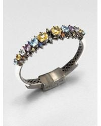 M.c.l  Matthew Campbell Laurenza - Metallic Mixed Sapphire and Semiprecious Stone Bracelet - Lyst