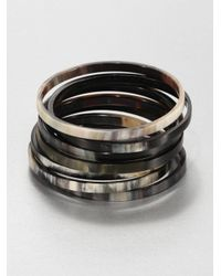 Nest | Brown Mixed Horn Seven-bangle Bracelet Set | Lyst
