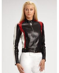 Ralph Lauren Black Label - Black Ryland Leather Motorcycle Jacket - Lyst