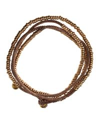 Serefina | Brown Ropebead Wrap Bracelet | Lyst