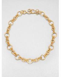 Stephanie Kantis | Metallic Coronation Small Chain Necklace/18 | Lyst