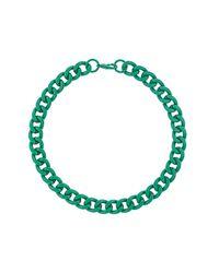 TOPSHOP - Green Chunky Chain Collar - Lyst