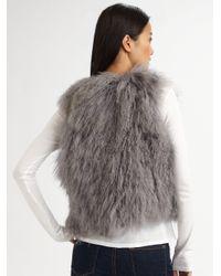 UGG - Gray Mongolian Sheep Shearling Vest - Lyst