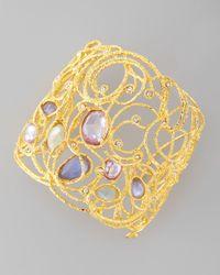 Alexis Bittar | Metallic Mauritius Golden Lace Cuff Bracelet | Lyst