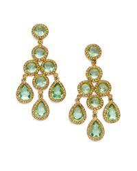 Carolee | Green Chandelier Earrings | Lyst