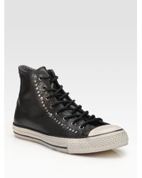 3f297dbe8a6e Lyst - Converse John Varvatos Studded Leather High-tops in Black for Men