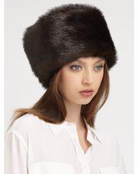 Saks Fifth Avenue | Black Russian Sable Faux Fur Hat | Lyst