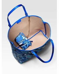 Emilio Pucci | Blue Beach Bag | Lyst
