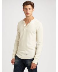 Gant Rugger | Natural Thermal Henley for Men | Lyst