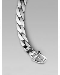 Gucci | Metallic Buckle Bracelet for Men | Lyst