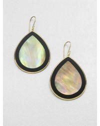 Ippolita - 18k Gold Black Onyx Teardrop Earrings - Lyst