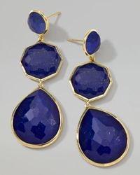 Ippolita   Blue 18k Gold Rock Candy Crazy8 Lapis Earrings   Lyst