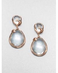 Ippolita | Metallic Rosé Teardrop Snowman Clear Quartz Earrings | Lyst