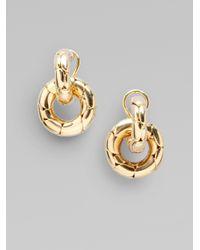 John Hardy - Metallic 18k Gold Small Door Knocker Earrings - Lyst