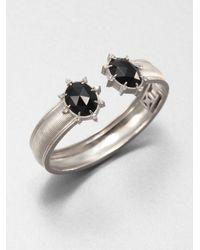Judith Ripka | Galaxy Black Onyx, White Sapphire & Sterling Silver Cuff Bracelet | Lyst