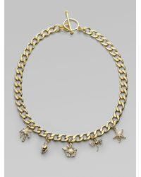 Juicy Couture - Metallic Fun in The Sun Charm Necklace - Lyst