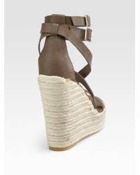 Juicy Couture   Brown Giana Anklewrap Espadrilles   Lyst