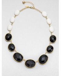 kate spade new york | Black Dual Color Graduated Necklace | Lyst