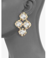 kate spade new york - Metallic Sparkle Chandelier Earrings - Lyst