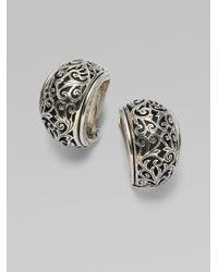 Konstantino - Metallic Sterling Silver Half Hoop Earrings - Lyst