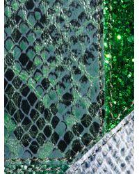 Stella McCartney | Green Faux Python Patchwork Clutch | Lyst