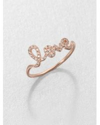 Sydney Evan | Pink Diamond & 14k Rose Gold Love Ring | Lyst