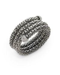 ABS By Allen Schwartz - Metallic Textured Wrap Cuff Bracelet - Lyst