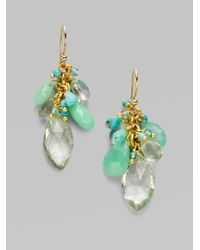 Alexis Bittar - Blue Multi Stone Cluster Earrings - Lyst