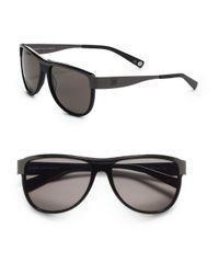 Balmain | Aviator Metal Acetate Sunglassesblack Grey for Men | Lyst