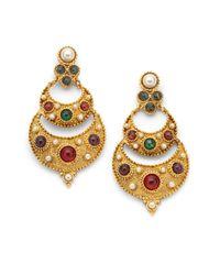 Ben-Amun | Metallic Byzantine Ushaped Chandelier Earrings | Lyst