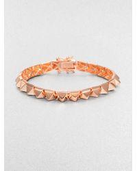 Eddie Borgo | Pink Small Pyramid Bracelet/rose Goldtone | Lyst