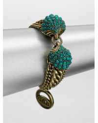 Giles & Brother - Green Circe Turquoise Chain Bracelet - Lyst