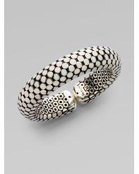 John Hardy | Metallic White Enamel Dot Cuff Bracelet | Lyst