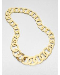 Kara Ross - Metallic Twisted Ivoryprint Chain Link Necklace - Lyst