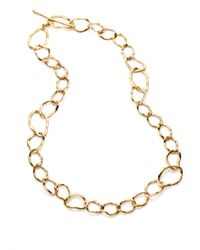 Kara Ross - Metallic Ripple Link Necklace - Lyst