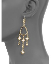 Kara Ross - Metallic Jasper Chandelier Earrings - Lyst