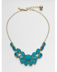 kate spade new york - Faceted Cluster Necklaceblue - Lyst
