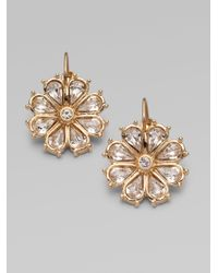 kate spade new york - Metallic Flower Earrings - Lyst