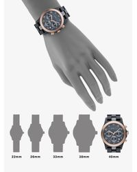 Marc By Marc Jacobs - Metallic Gray & Rose Gold Ion Plated Chronograph Watch - Lyst