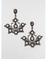 M.c.l  Matthew Campbell Laurenza | Multicolor Sapphire And Blue Topaz Chandelier Earrings | Lyst