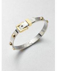 Michael Kors Metallic Astor Two-tone Rivet Buckle Bangle Bracelet