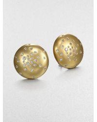 Mija - Metallic White Sapphire Constellation Button Earrings - Lyst