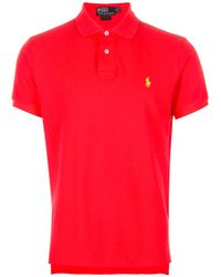 Polo Ralph Lauren | Red Classic Polo Shirt for Men | Lyst
